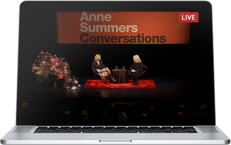 Filming and streaming of live events such as Anne Summers Conversations
